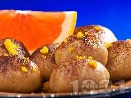 Рецепта Бързи шоколадови трюфели (топчета) с портокал и какао